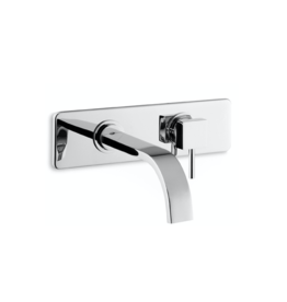 Crui 1-hole built-in basin mixer on wall plate - outlet