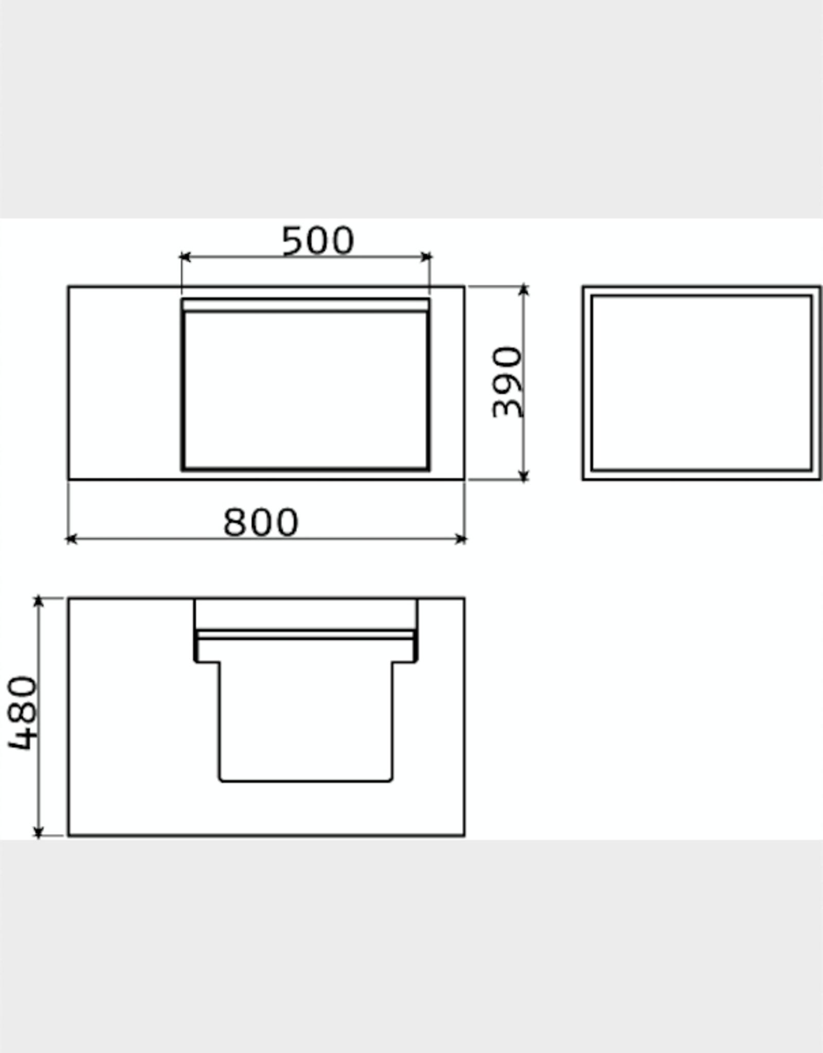 Wash Me high dresser 80 cm, left - outlet