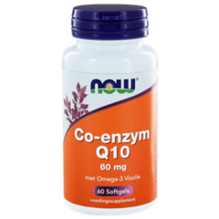 Now Co Q10 60Mg Met Omega 3 (60Sft) DNW6027