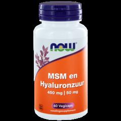 NOW MSM 450 mg und Hyaluronsäure 50 mg
