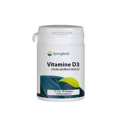 Springfield Vitamin D3 Cholecalciferol 600IU