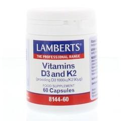 Lamberts Vitamin D3 25 mcg + K2 90 mcg