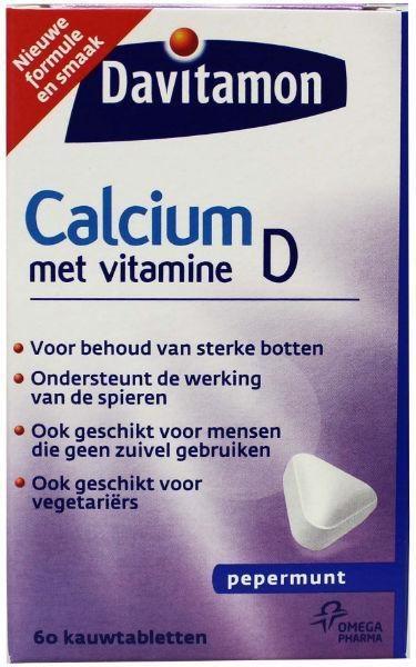 Davitamon Davitamon Calcium & D Minze (60 Kautabletten)