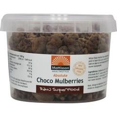 Absolute rohe Schoko-Maulbeeren organisch