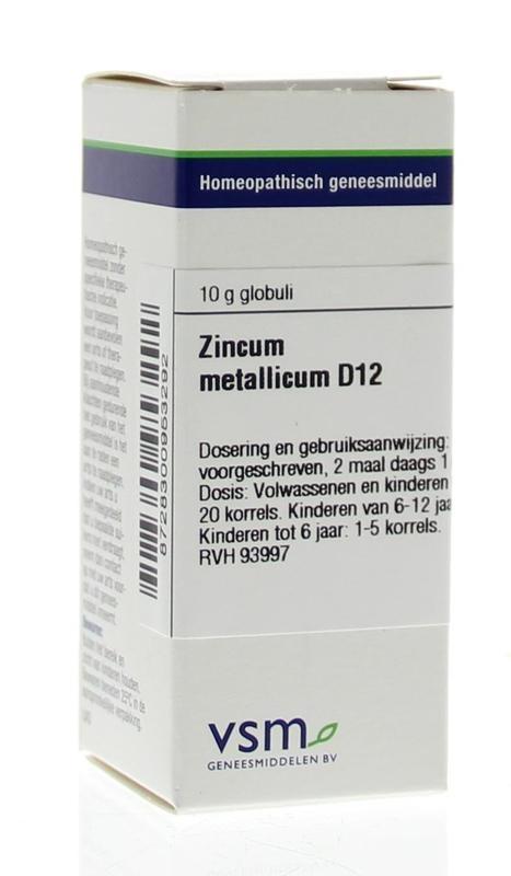 VSM VSM Zinkmetallicum D12 (10 Gramm)
