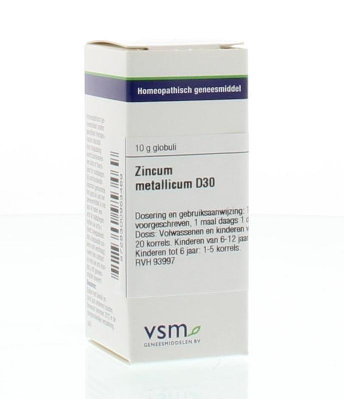 VSM VSM Zinkmetallicum D30 (10 Gramm)