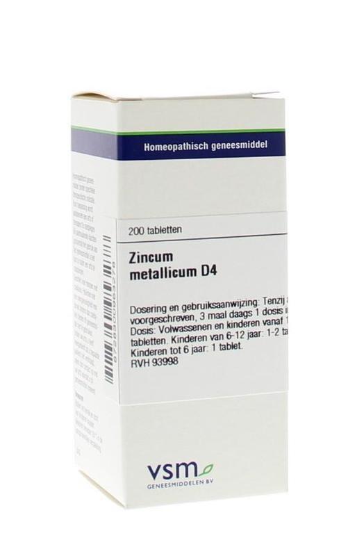 VSM VSM Zinkmetallicum D4 (200 Tabletten)