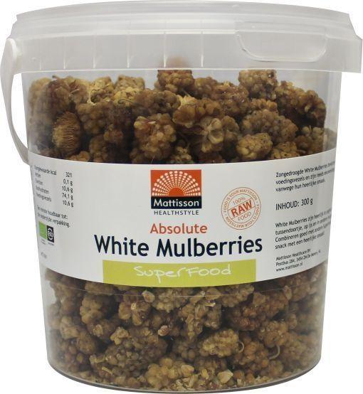 Mattisson Mattisson Absolute weiße Maulbeeren roh Bio (300 Gramm)
