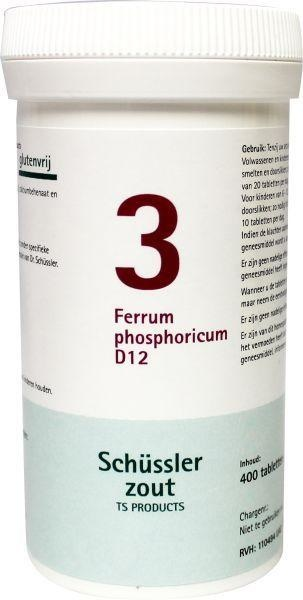Pfluger Pfluger Ferrum phosphoricum 3 D12 Schussler (400 Tabletten)