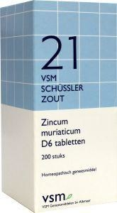 VSM VSM Zincum muriaticum D6 schussler 21 (200 Tabletten)