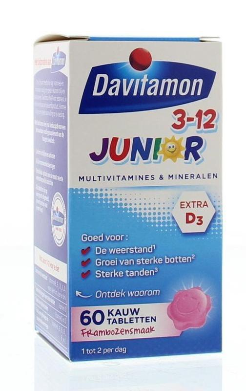 Davitamon Davitamon Junior 3+ Himbeere (60 Kautabletten)
