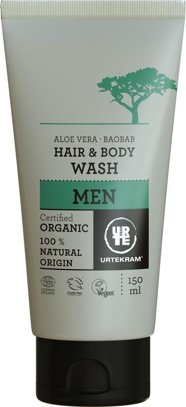 Urtekram Urtekram Männer Haare und Körper waschen (150 ml)