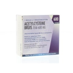 Teva Acetylcysteine 600 mg 7 Brausetabletten
