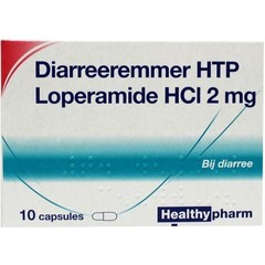 Healthypharm Loperamide 2 mg Durchfallhemmer 10 Kapseln.