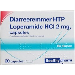 Healthypharm Loperamide 2 mg Durchfallhemmer 20 Kapseln.