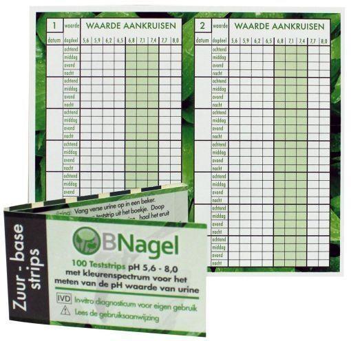Nagel Nagelsäure-Basisstreifen zum Testen des pH-Wertes von 100 Stück