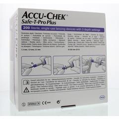 Accu Chek Batterie Chek Safe T-pro plus Lanzetten 200 Stück