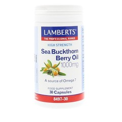 Lamberts Sanddornöl 1000 mg - Sanddornbeerenöl 30 Kapseln.