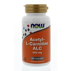 NOW Acetyl L-Carnitin 500 mg 50 vcaps