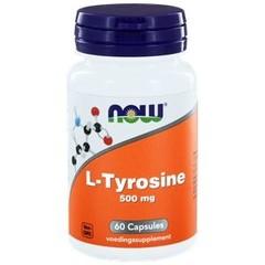 NOW L-Tyrosin 500 mg 60 Kapseln.