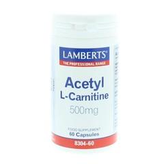 Lamberts Acetyl L-Carnitin 500 mg 60 Kapseln.