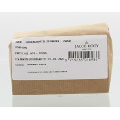 Jacob Hooy Ginsengwurzel geschnitten 250 Gramm