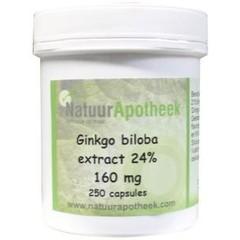 Natuurapotheek Natürliche Apotheke Ginkgo biloba 24% 100 mg 250 Kapseln.