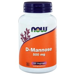 NOW D Mannose 500 mg 120 vcaps