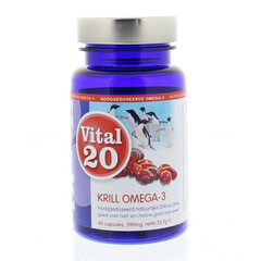 Vital20 Krillöl Omega-3 extra stark 500 mg MSC 60 Kapseln