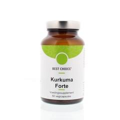 Best Choice Kurkuma forte Flüssigkeit 60 Kapseln.