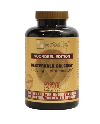 Artelle Artelle Oyster Kalk Kalzium Vitamin D3 220 Tabletten