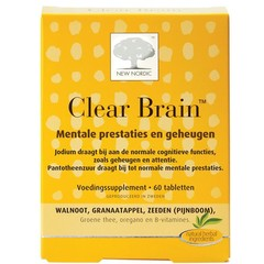New Nordic Neue Nordic Clear Gehirn 60 Tabletten
