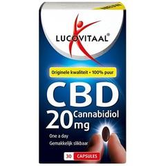 Lucovitaal Lucovital Cannabidiol CBD 20 mg 30 Kapseln.