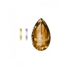 Lichtwesen Crystal stabil Drop Clip silber 1 Stück