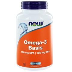 NOW JETZT Omega-3-Basis 180 mg EPA 120 mg 200 Weichgele