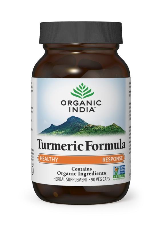 Organic India Organic India Bio India Kurkuma Formel Kurkuma Bio 90 Kapseln.