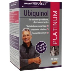 Mannavital Ubiquinol Platin 60 Kapseln.