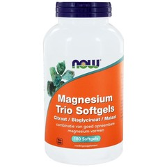 NOW Magnesium Trio Softgels 180 Softgels