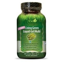 Irwin Naturals Living grünes flüssiges Gel Multi für Frauen 120 weiche Gele