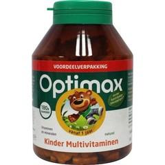 Optimax Multivit Vanille 180 Kautabletten für Kinder