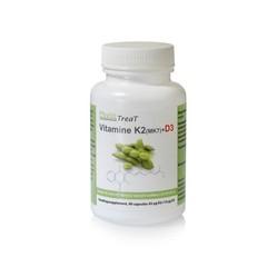 Phytotreat Vitamin K2 MK7 + D3 90 Kapseln.