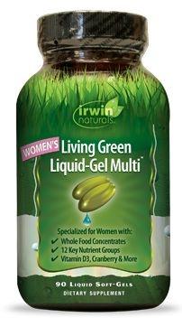 Irwin Naturals Irwin Naturals Living grünes flüssiges Gel Multi für Frauen 90 weiche Gele