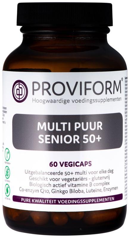 Proviform Proviform Multi pure senior 50+ 60 vcaps