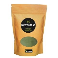 Hanoju Bio Weizengras Pulver Glasflasche Neuseeland 200 Gramm