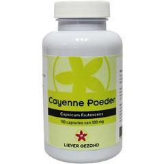 Liever Gezond Bevorzugen Sie gesundes Cayenne-Pulver 100 Kapseln