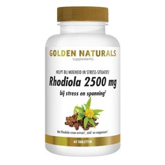 Golden Naturals Rhodiola 2500 mg 60 Tabletten