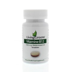 Livinggreens Vitamin B12 Methylcobalamin 1000 µg 100 Tabletten