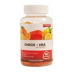 Fitshape Passform Omega + DHA Gummis 60 Gummis