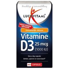 Lucovitaal Lucovital Vitamin D3 25 µg 365 Kapseln.