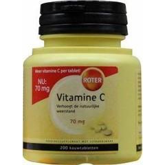 Roter Vitamin C 70 mg Zitrone 200 Kautabletten